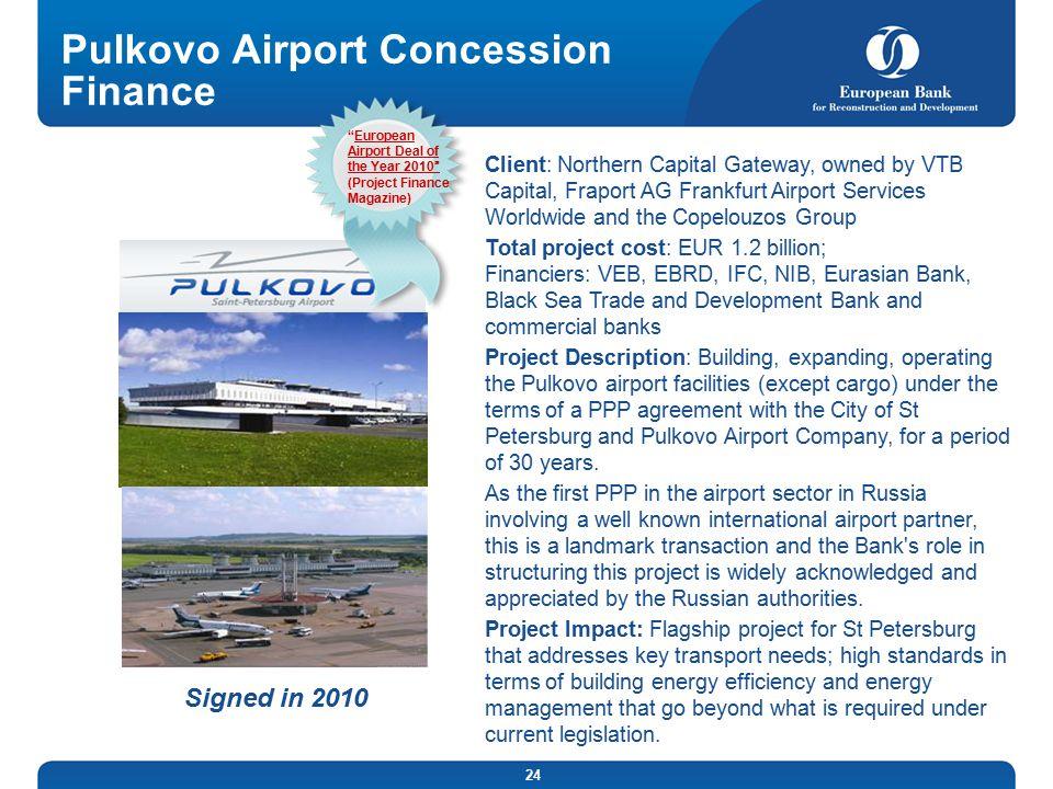 Pulkovo Airport Concession Finance