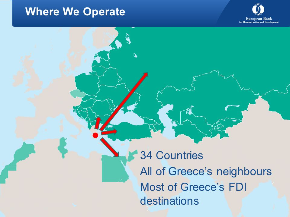 All of Greece's neighbours Most of Greece's FDI destinations