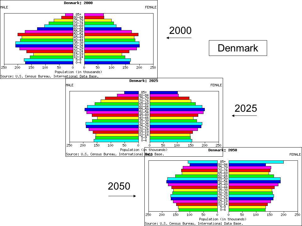 2000 Denmark 2025 2050