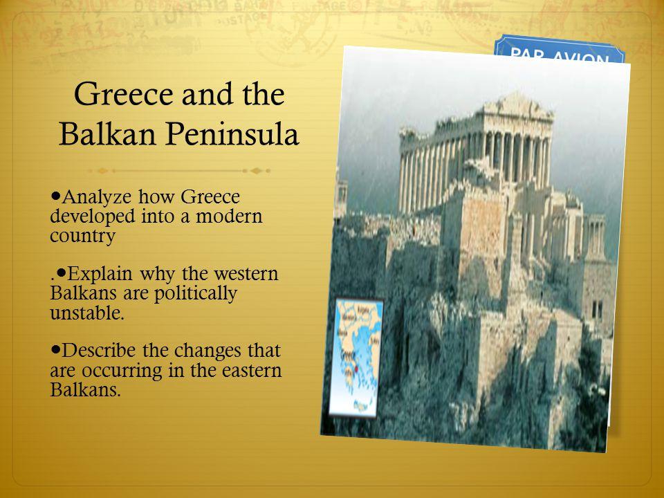 Greece and the Balkan Peninsula