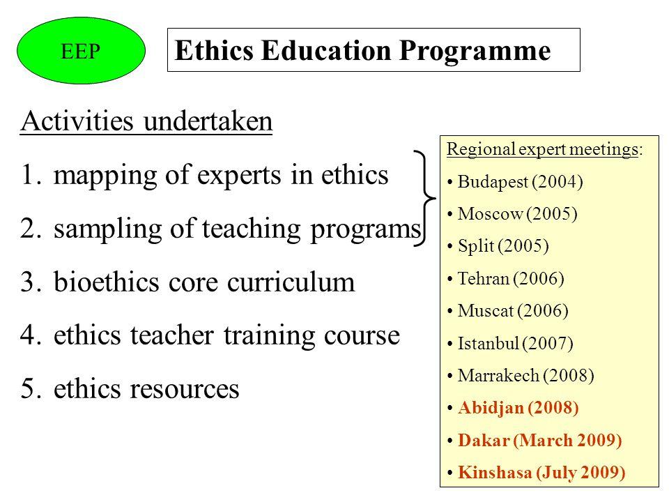 Ethics Education Programme