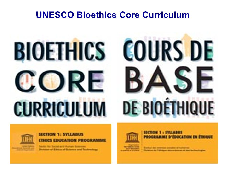 UNESCO Bioethics Core Curriculum