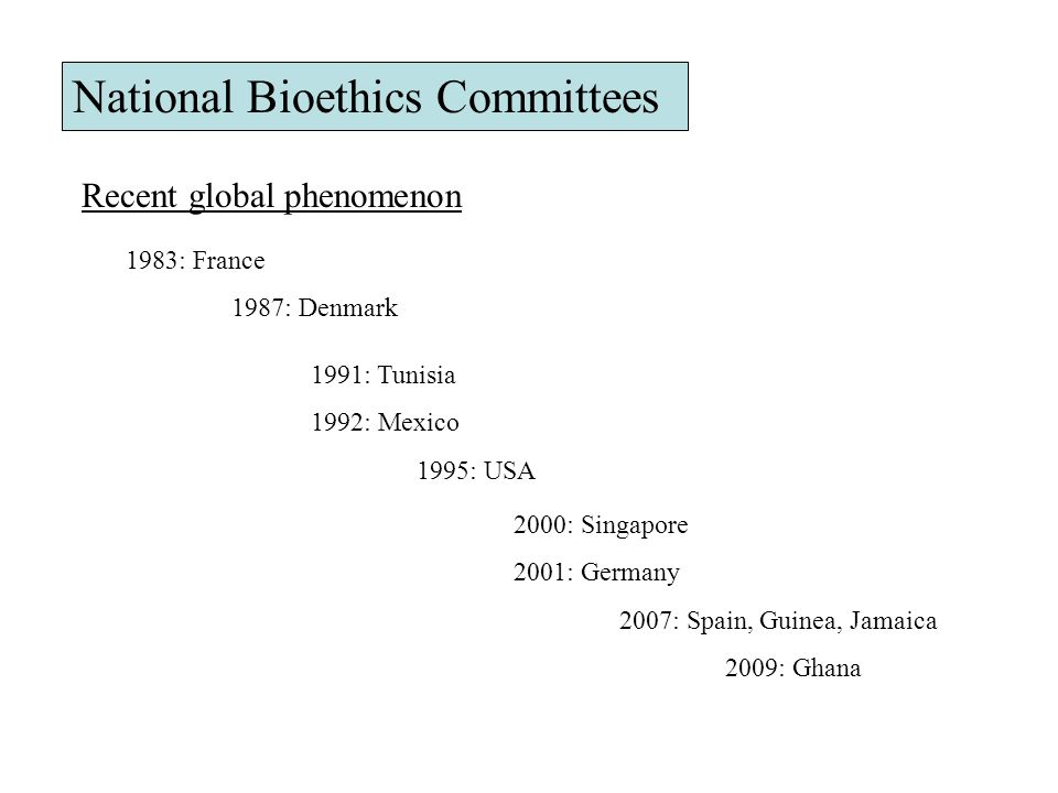 National Bioethics Committees