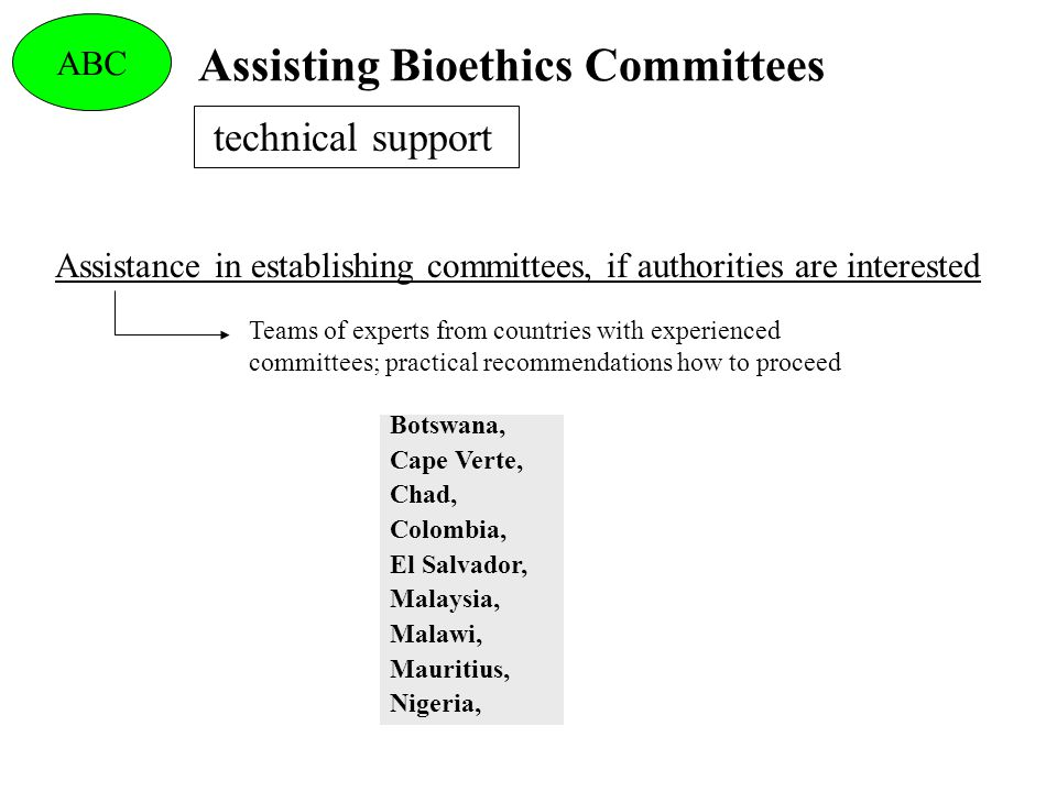 Assisting Bioethics Committees