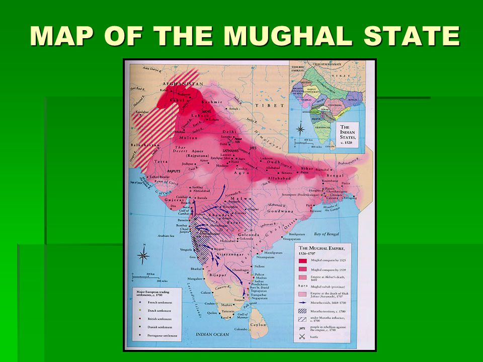 MAP OF THE MUGHAL STATE