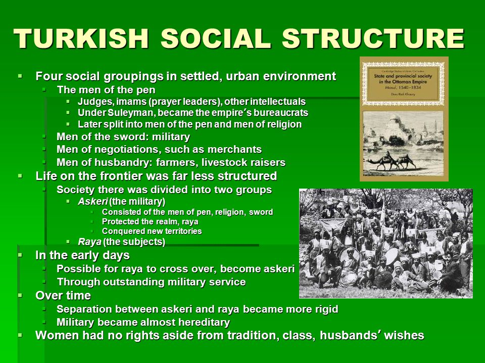 TURKISH SOCIAL STRUCTURE