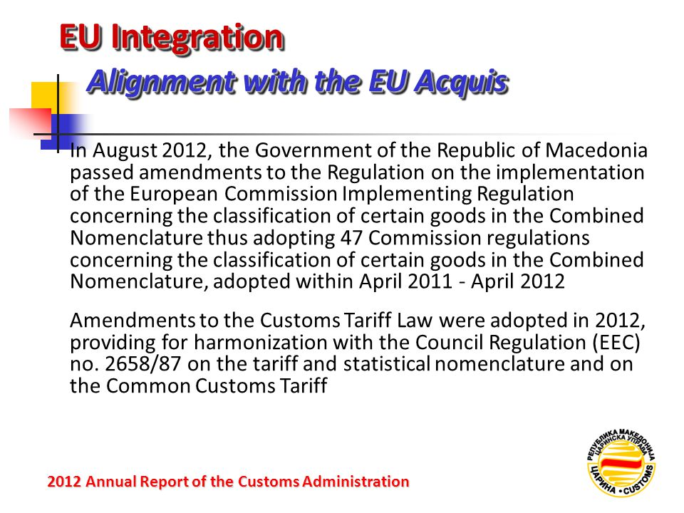 EU Integration Alignment with the EU Acquis