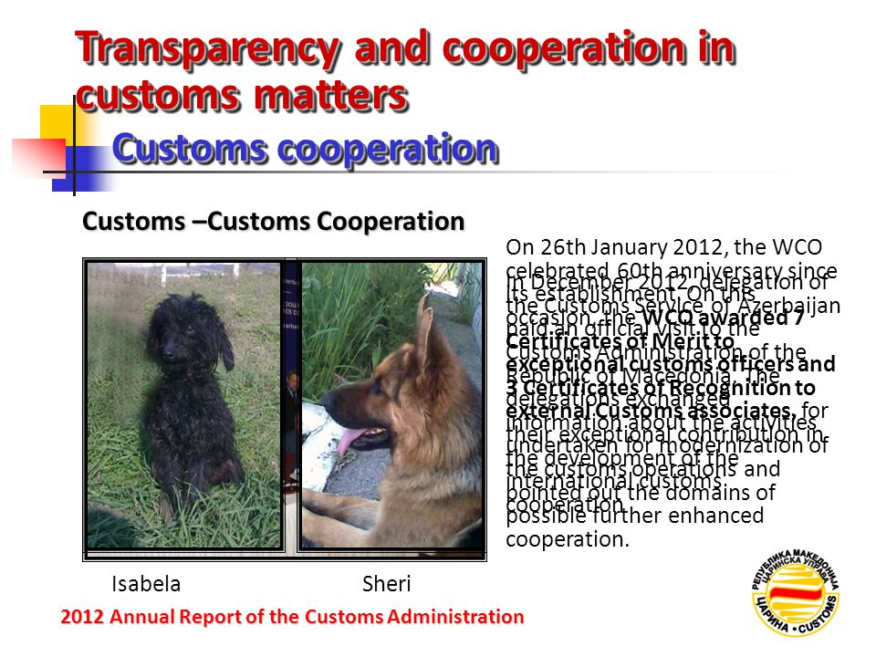 Transparency and cooperation in customs matters