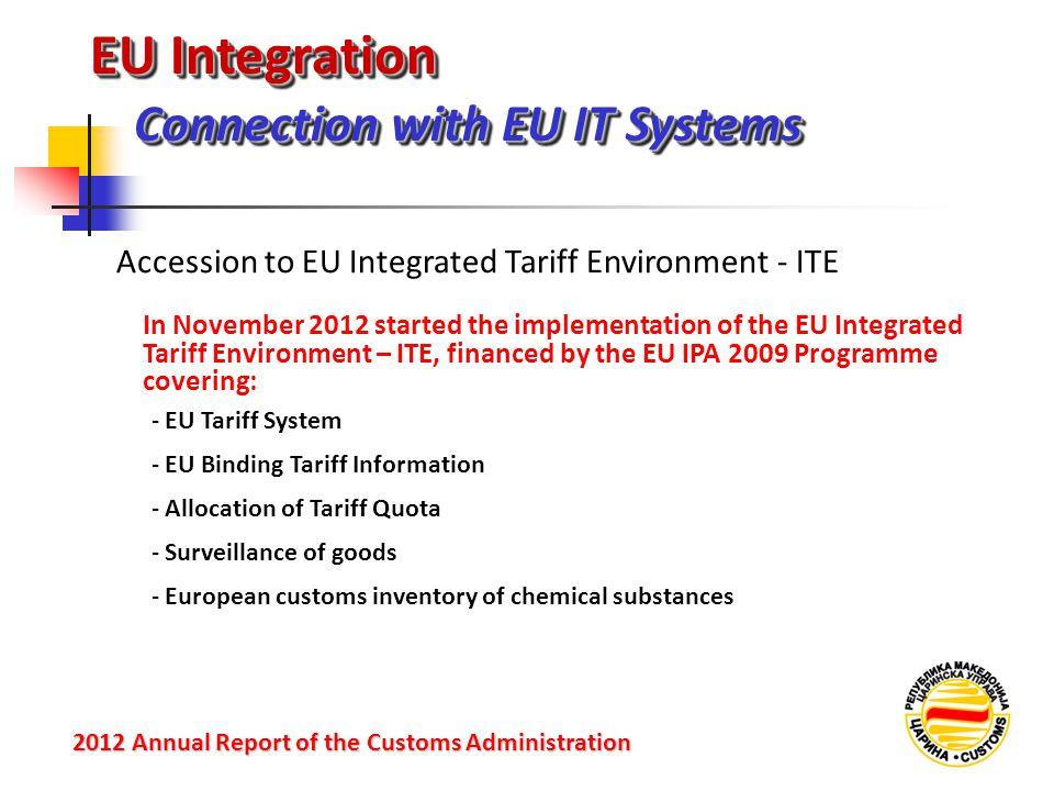 EU Integration Connection with EU IT Systems