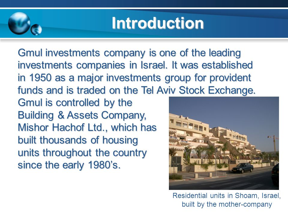 Residential units in Shoam, Israel, built by the mother-company