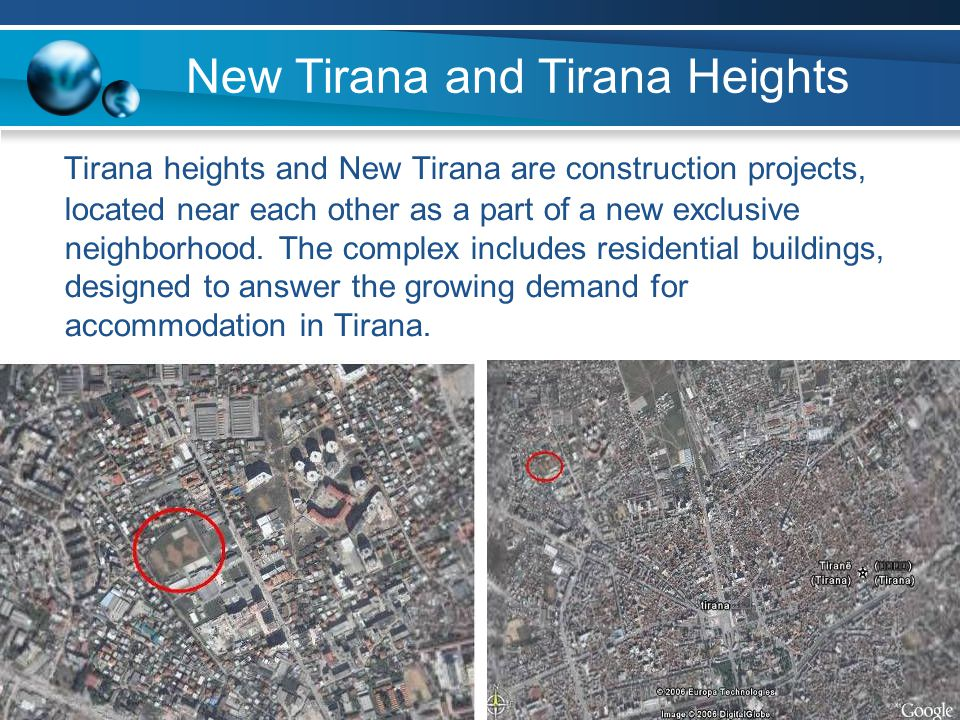 New Tirana and Tirana Heights