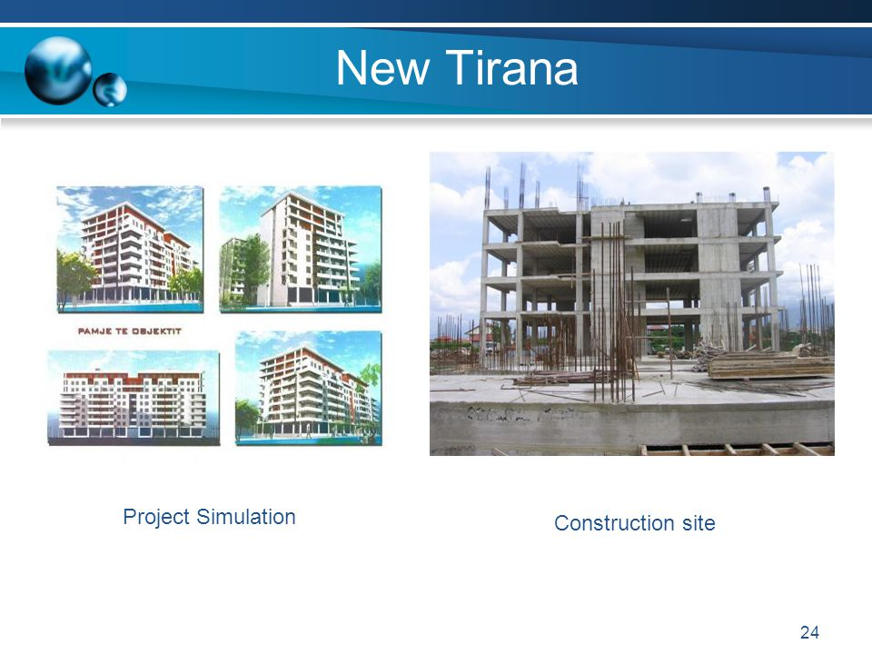 New Tirana Project Simulation Construction site