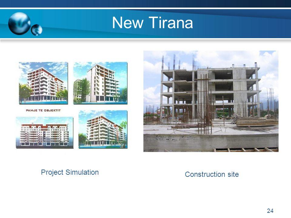 New Tirana Project Simulation Construction site