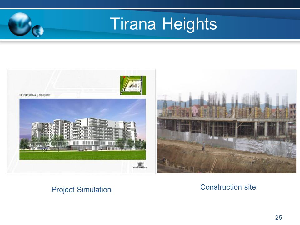 Tirana Heights Construction site Project Simulation