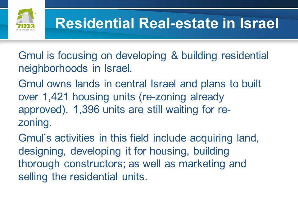 Residential Real-estate in Israel