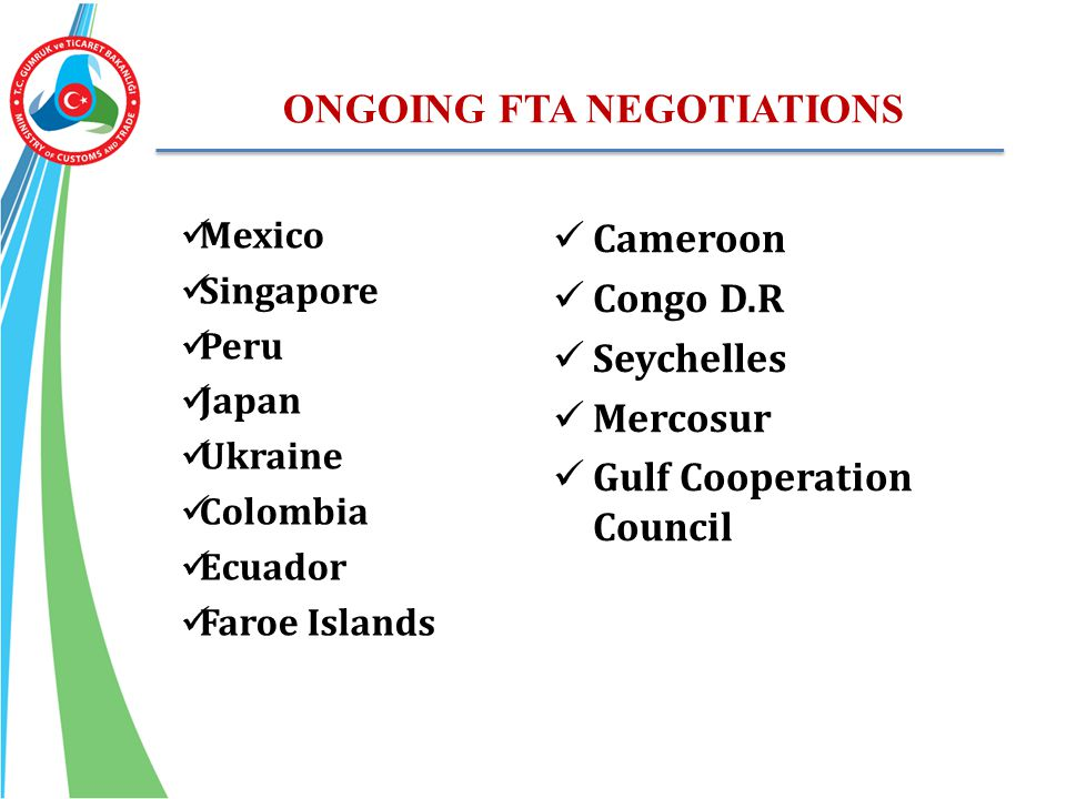 ONGOING FTA NEGOTIATIONS