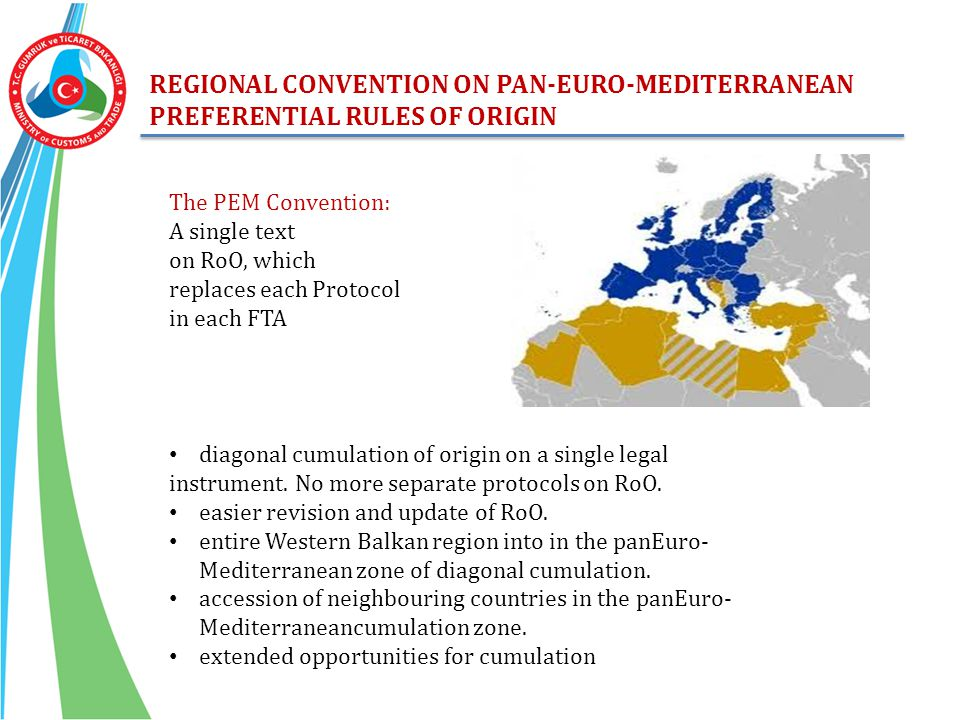 REGIONAL CONVENTION ON PAN-EURO-MEDITERRANEAN