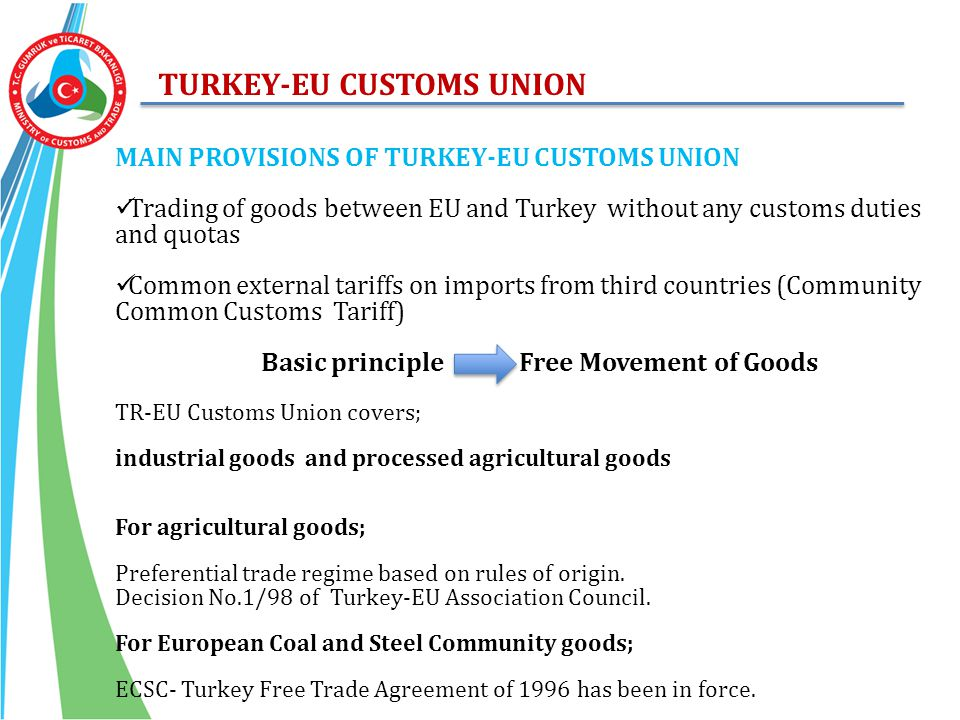 TURKEY-EU CUSTOMS UNION