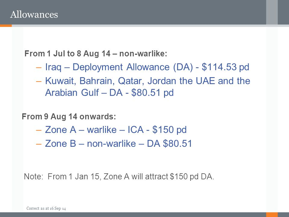 From 1 Jul to 8 Aug 14 – non-warlike: