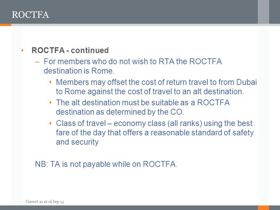 ROCTFA ROCTFA - continued