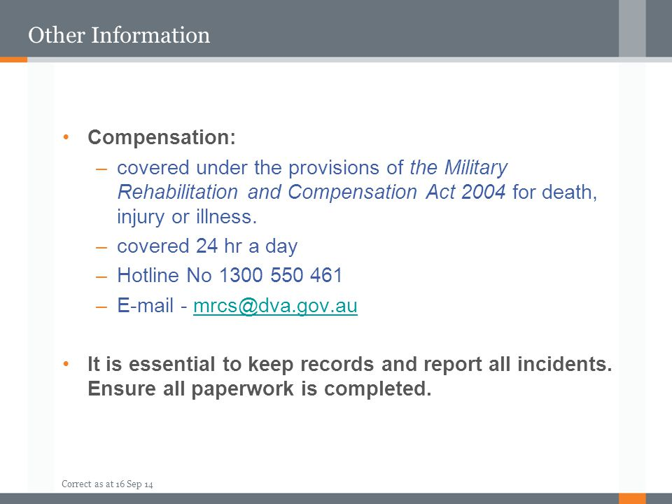 Other Information Compensation: