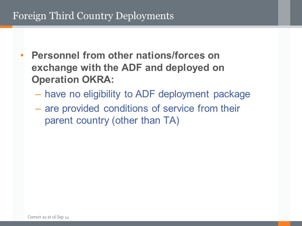Foreign Third Country Deployments