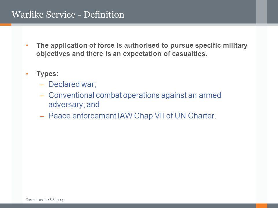 Warlike Service - Definition