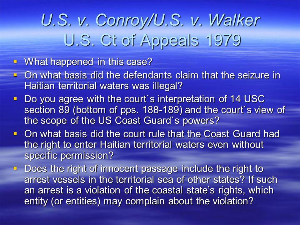 U.S. v. Conroy/U.S. v. Walker U.S. Ct of Appeals 1979