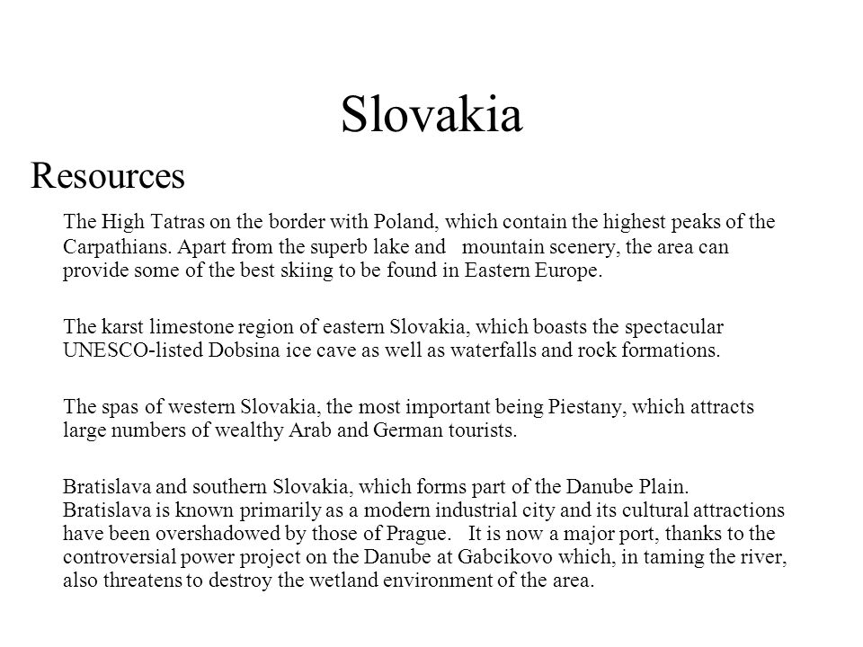 Slovakia Resources.