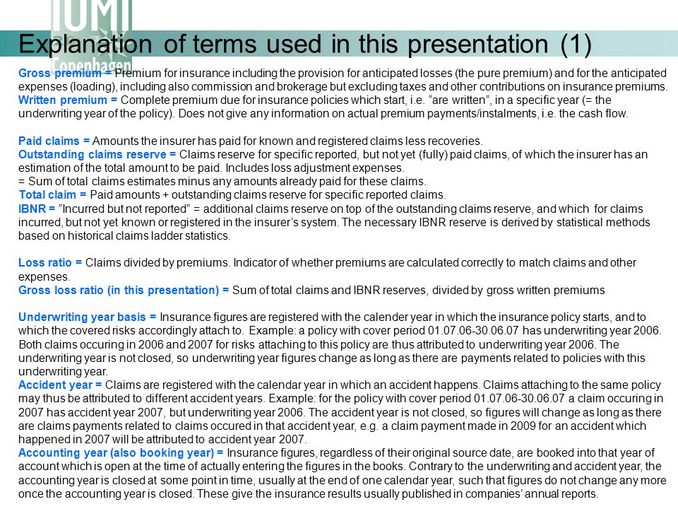 Explanation of terms used in this presentation (1)