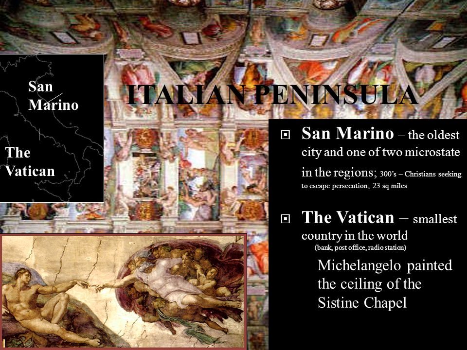 San Marino ITALIAN PENINSULA.