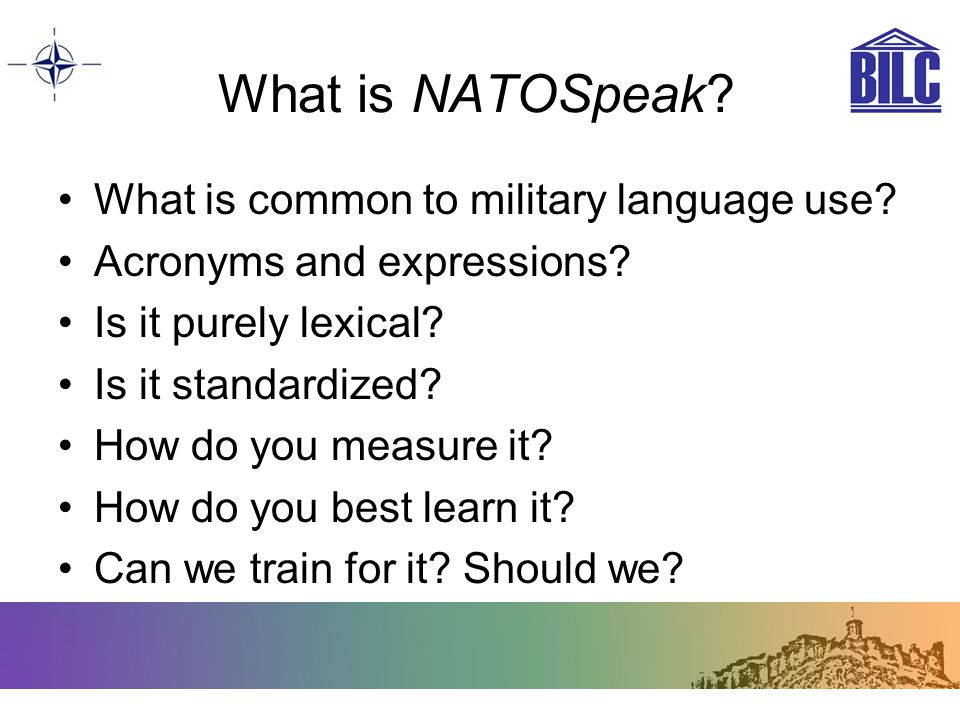 What is NATOSpeak What is common to military language use
