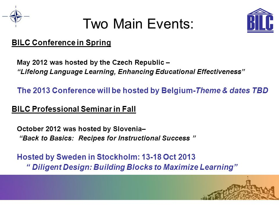 Two Main Events: BILC Conference in Spring