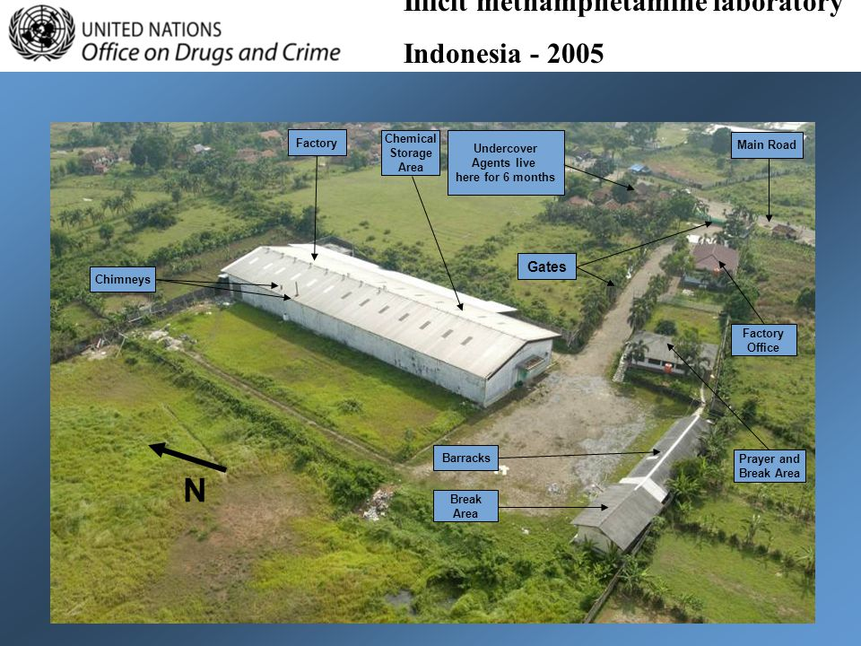 N Illicit methamphetamine laboratory Indonesia - 2005 Gates Factory