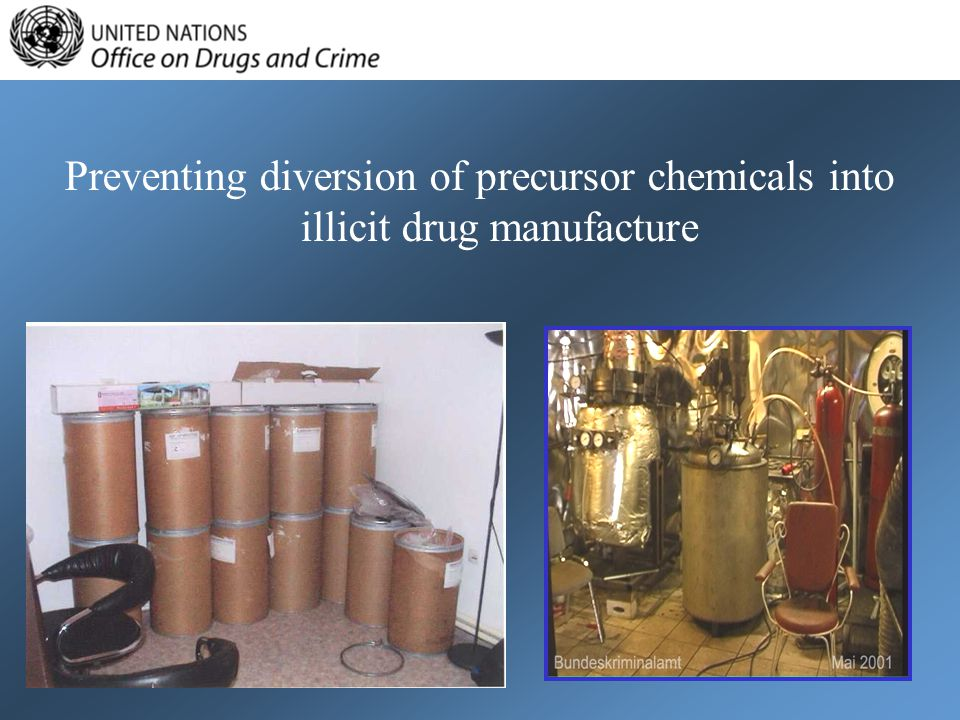 Preventing diversion of precursor chemicals into illicit drug manufacture