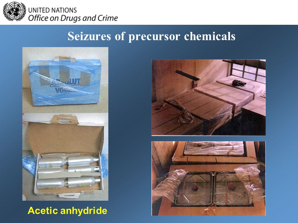 Seizures of precursor chemicals