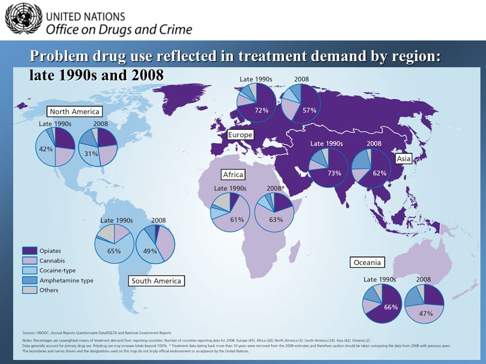 Problem drug use reflected in treatment demand by region: late 1990s and 2008
