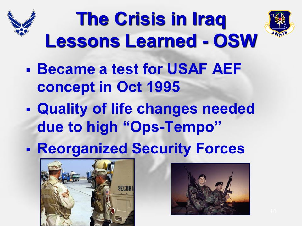 The Crisis in Iraq Lessons Learned - OSW