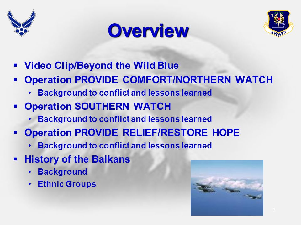 Overview Video Clip/Beyond the Wild Blue