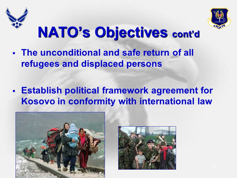 NATO's Objectives cont'd