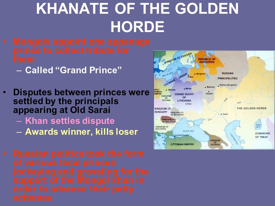 KHANATE OF THE GOLDEN HORDE