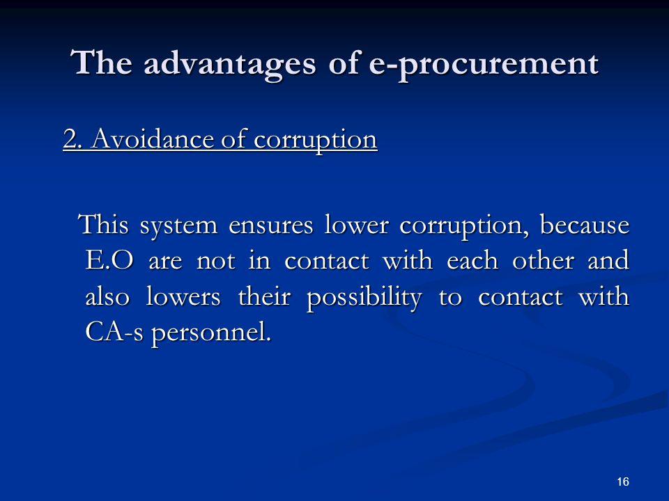 The advantages of e-procurement