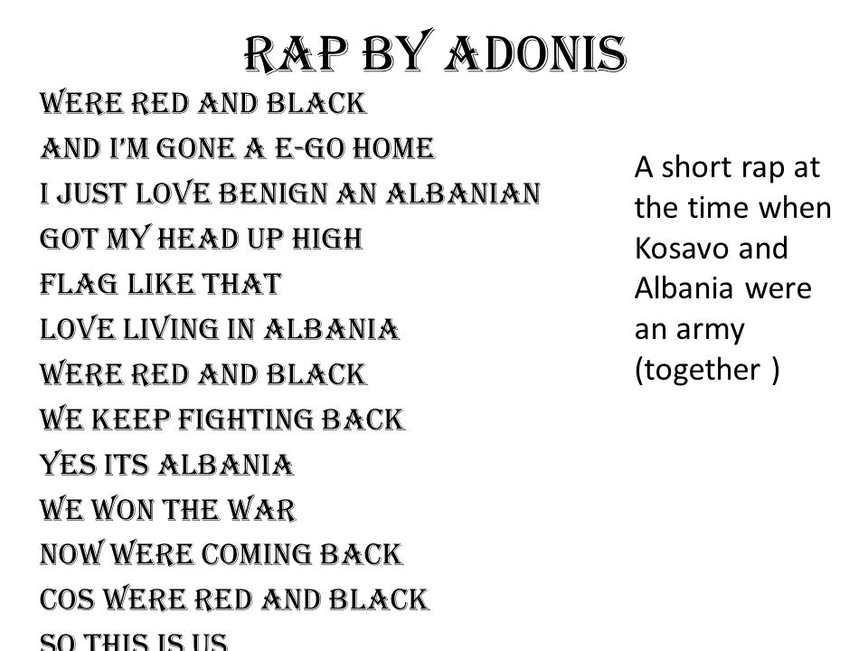 Rap by adonis