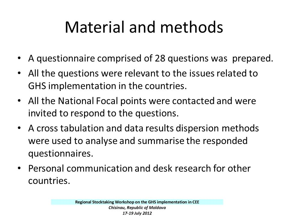 Material and methods A questionnaire comprised of 28 questions was prepared.