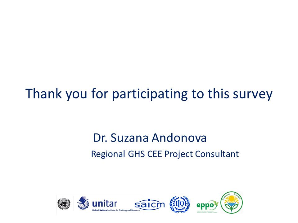 Thank you for participating to this survey