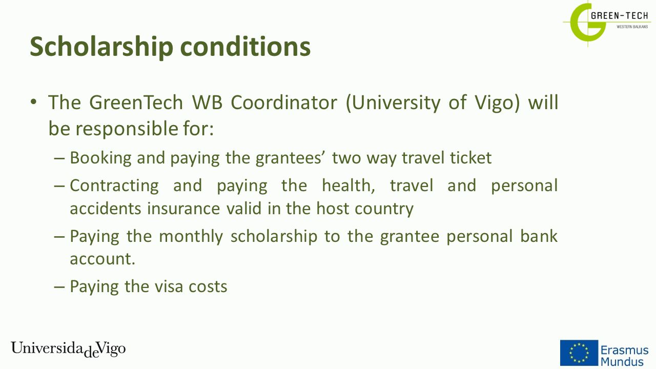 Scholarship conditions