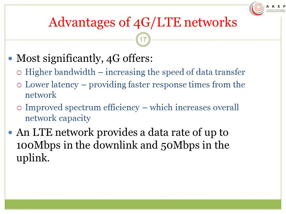 Advantages of 4G/LTE networks