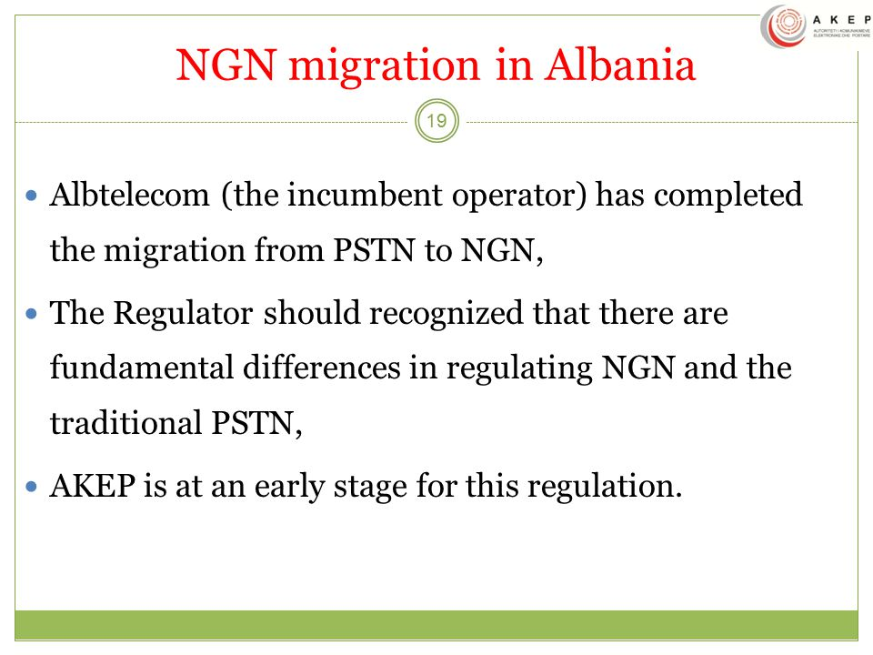 NGN migration in Albania