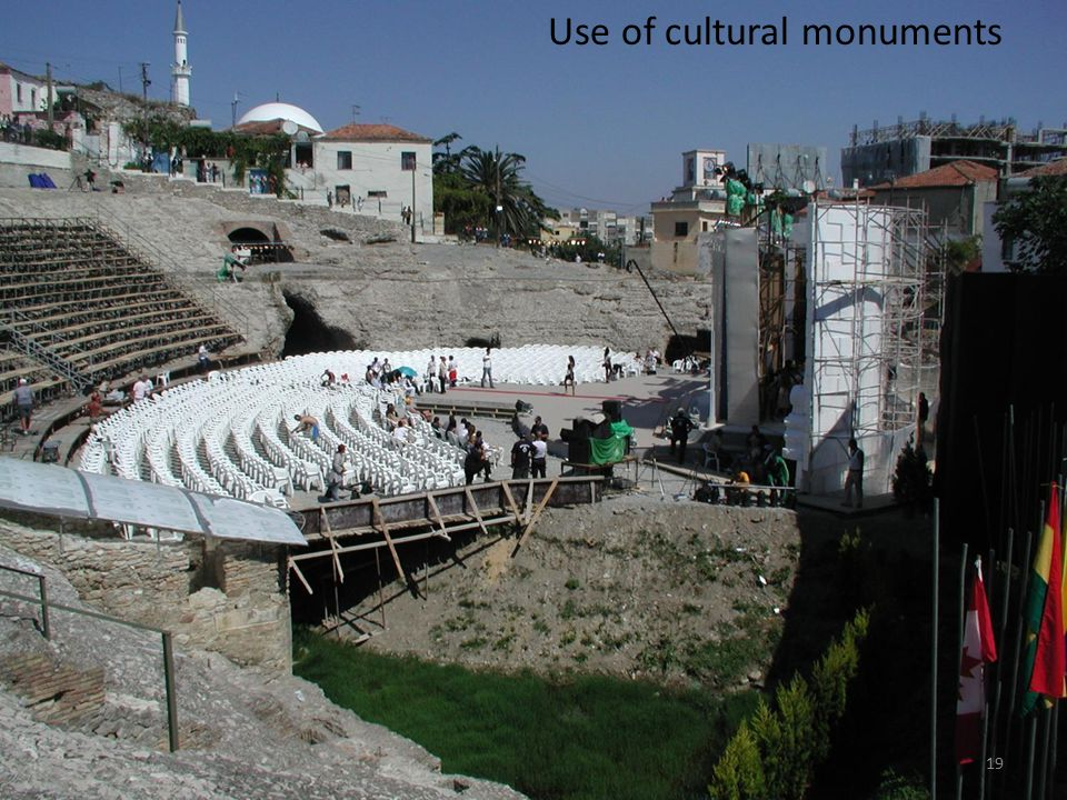 Use of cultural monuments
