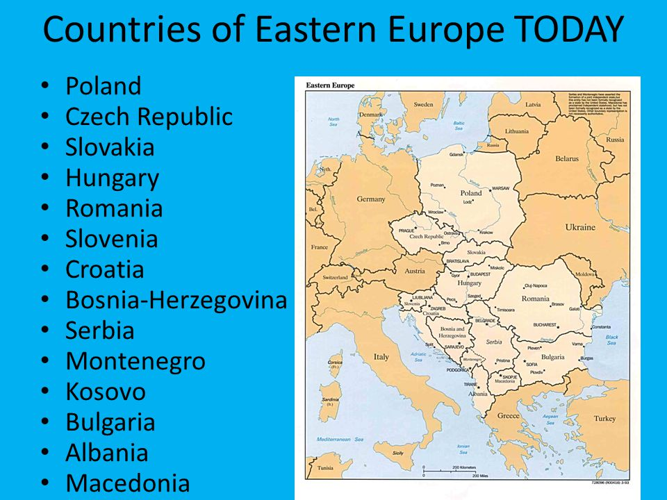 Countries of Eastern Europe TODAY